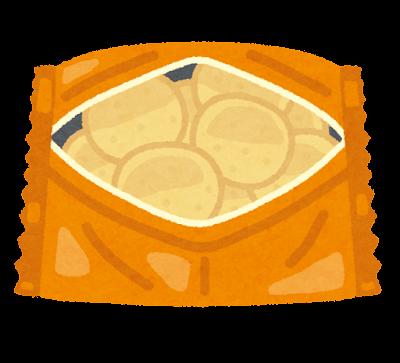 パーティ開けのイラスト(スナック菓子)