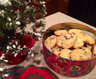 Christmas Cranberry White Chocolate Chip Cookies