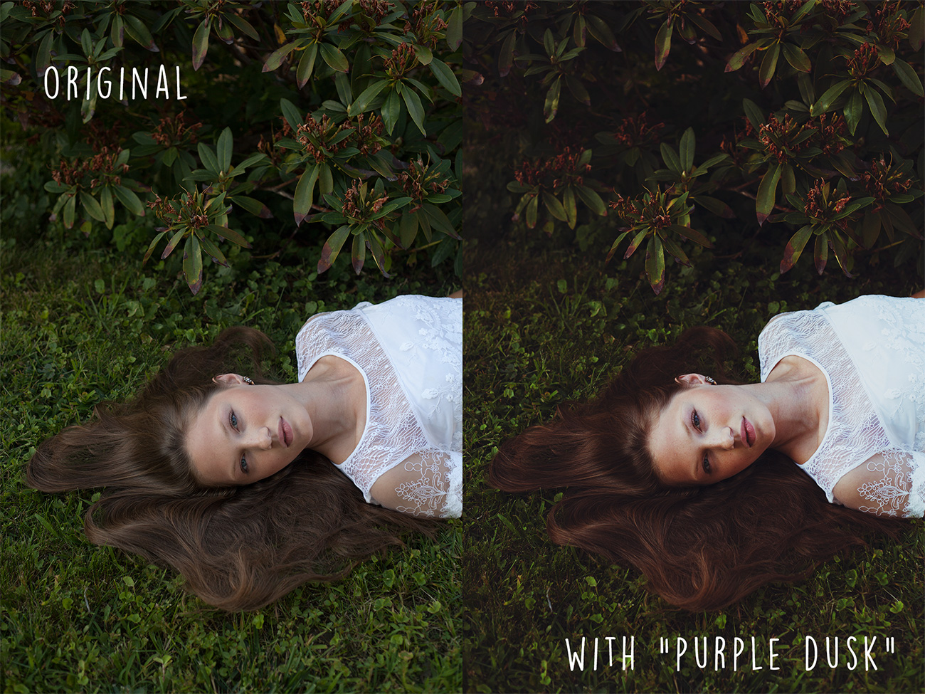 Before and after photo sample using Photoshop curve