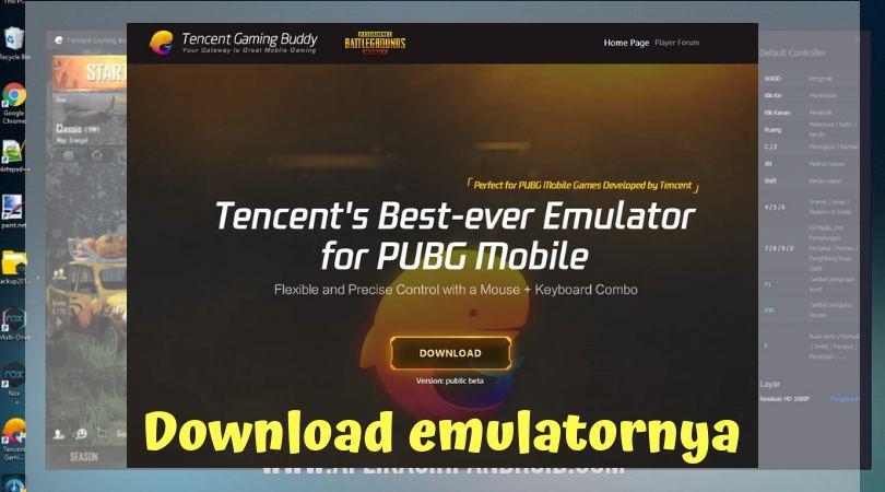 Cara bermain PUBG di PC dengan menggunakan software Tencent Gaming 1