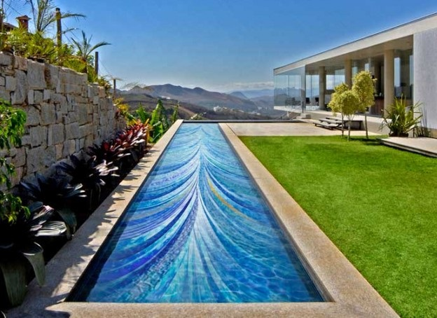 Make a 3d flooring for your swimming pool with epoxy paint for Epoxy coating for swimming pools