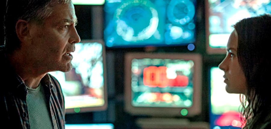 George Clooney şi Britt Robertson în filmul sci-fi Tomorrowland