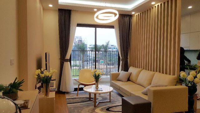Không gian phòng khách căn hộ The K Park