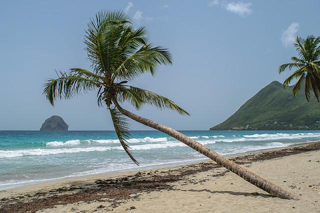La plage de la Grande Anse du Diamant