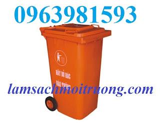 Cung cấp thùng rác 120 lít, thùng rác nhựa công nghiệp, thùng rác giá rẻ