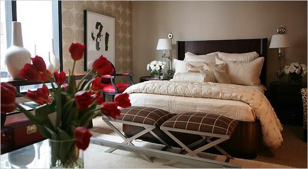 Dormitorios en marr n y crema dormitorios colores y estilos - Habitacion marron ...