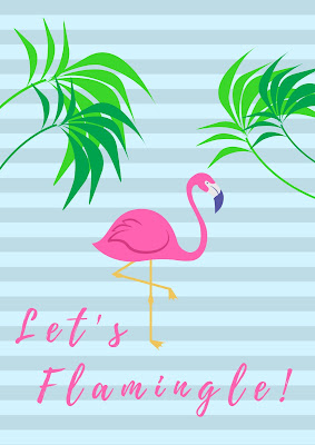 Let's Flamingle summer printable decor