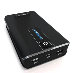 Portable Charger 15,000mAh - High Capacity Dual USB External Battery Power Bank for Cell Phone and Tablet - Universal USB Connectivity (iPhone, iPad, Samsung, Kindle, etc.)