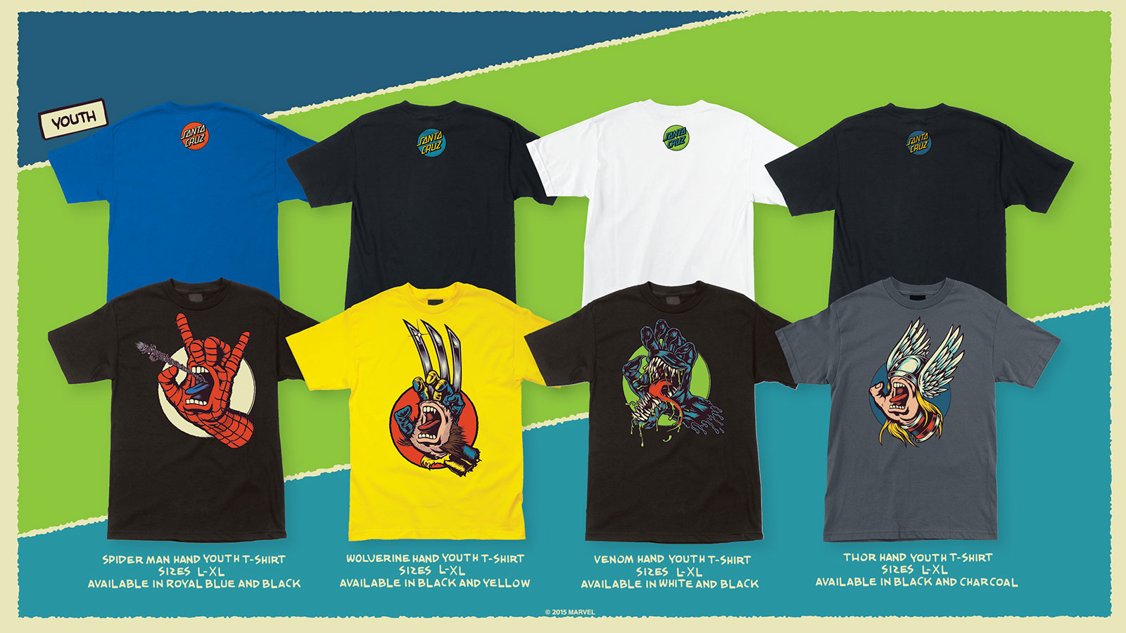 a84d9de37 Marvel Comics The Screaming Hand Youth T-Shirt Collection by Santa Cruz