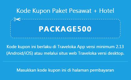 Traveloka kode kupon paket pesawat dan hotel