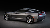The 2014 Chevrolet Corvette Stingray side back grey