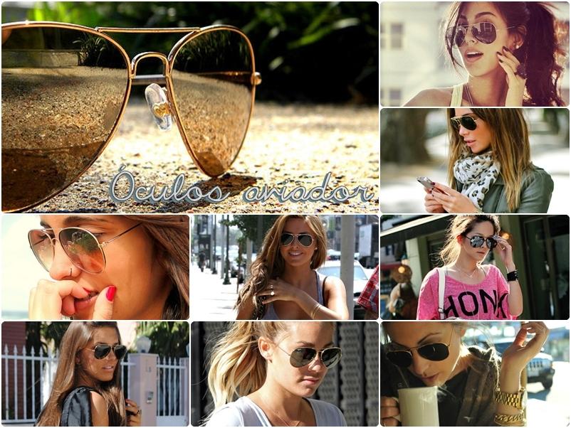 351872c8d 6º) Óculos aviador: É realmente um clássico da moda e cai bem com qualquer  formato de rosto. Tem a versão básica, com lentes espelhadas, degradê, ...