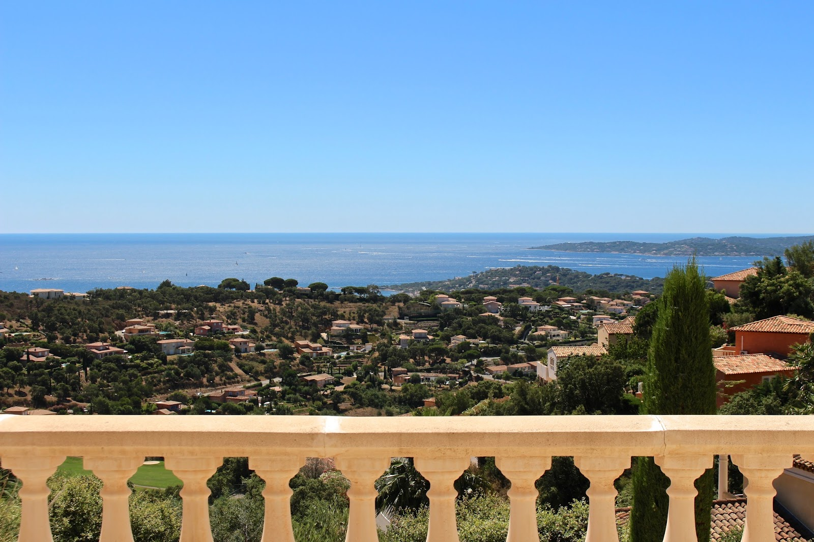 Balcony view of Sainte Maxime in Côte d'Azur