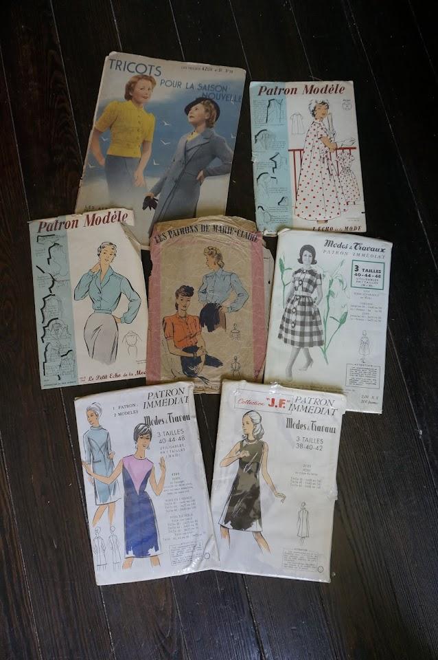 des patrons de couture des années 40 à 60  40s to 60s sew pattern