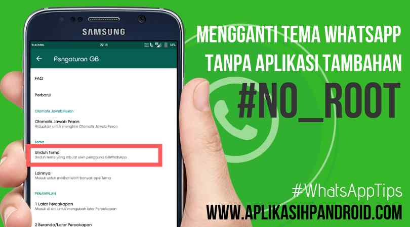 Cara mengganti tema di Whatsapp tanpa aplikasi no root 3