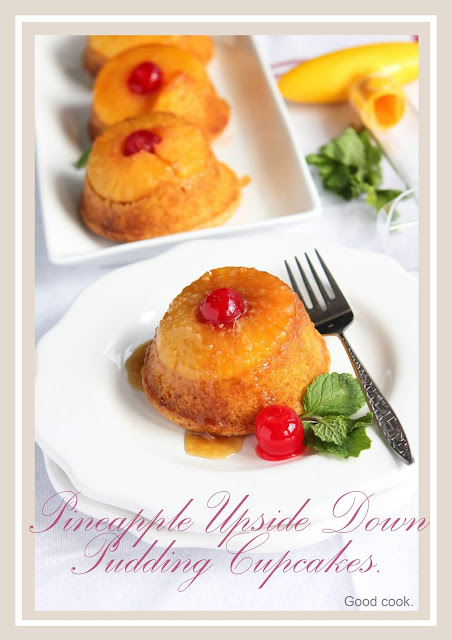 Pretty nice pineapple upside down pudding cupcake