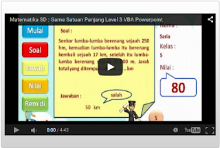 game satuan panjang matematika sd vba powerpoint