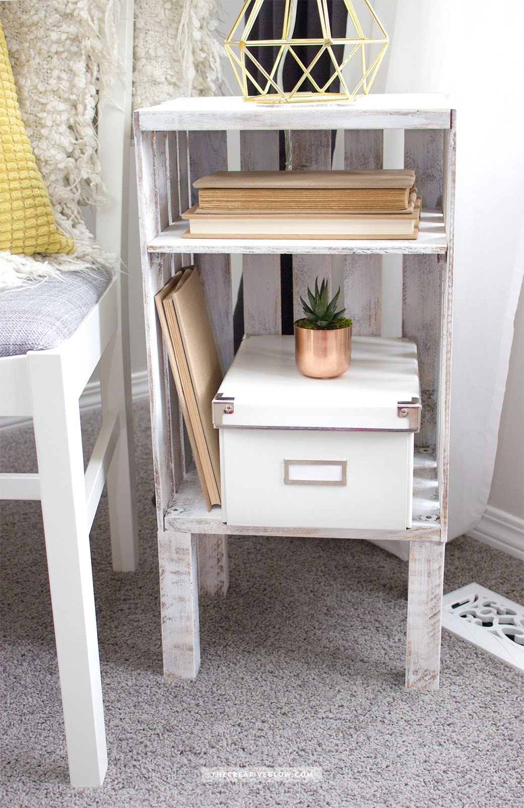 diy wood crate side table quick easy