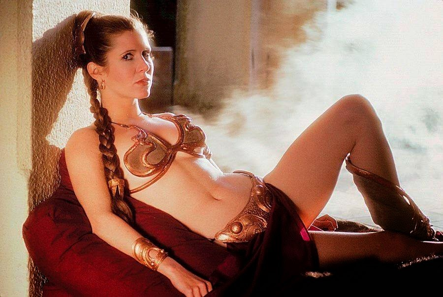 princess leia's golden bikini from Return of the Jedi