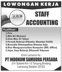 Lowongan posisi staff accounting pajak pt. indokom samudera persada