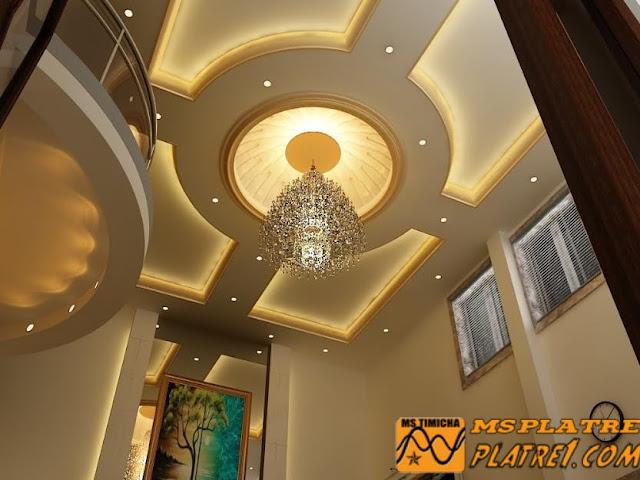 Plafond en Platre de Salon Moderne