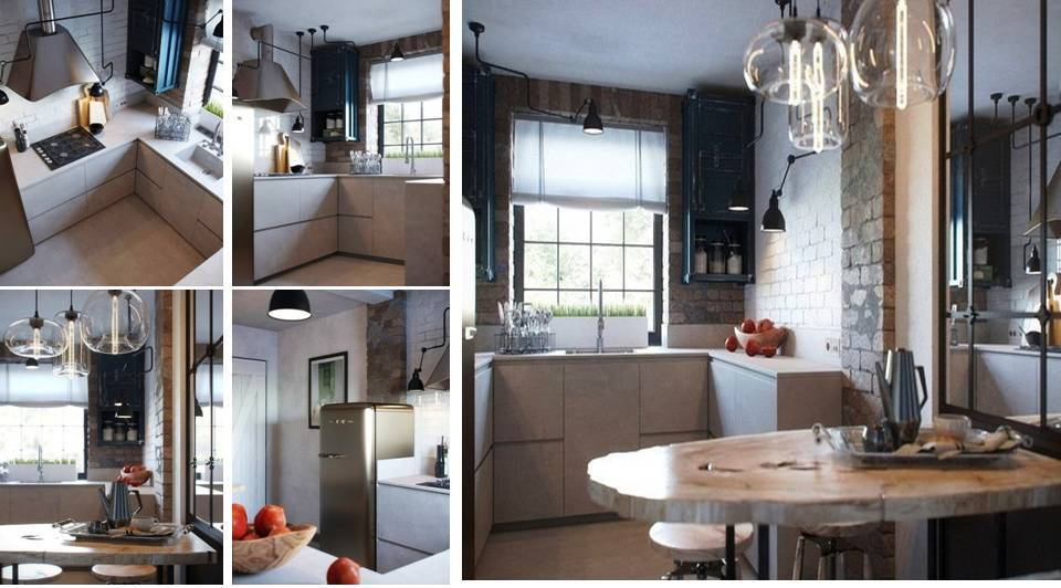 Small Kitchen In loft Style - Decor Units
