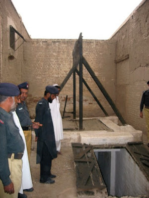 Gallows at an unidentified Pakistani prison