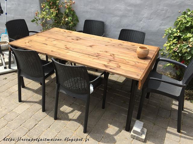 r cup et fait maison des id es r cup et d co fabriquer une table avec des planches de r cup. Black Bedroom Furniture Sets. Home Design Ideas