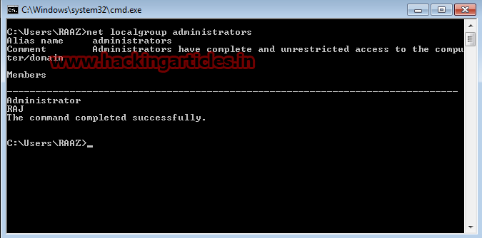 how to take people of administrator using cmd windows 10