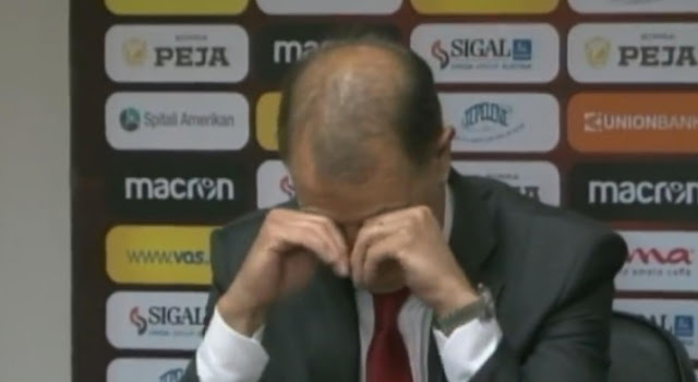 Gianni de Biasi read his resignation letter in tears and emotions