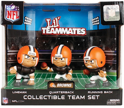 Lil' Teammates NFL Vinyl Figure 3 Packs - Cleveland Browns