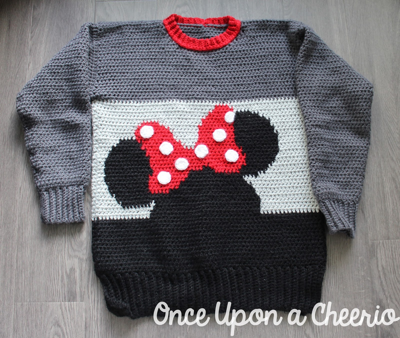 Minnie Mouse Sweater Crochet Pattern - Once Upon a Cheerio