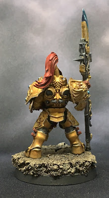 Custodian Guard with Halberd Back