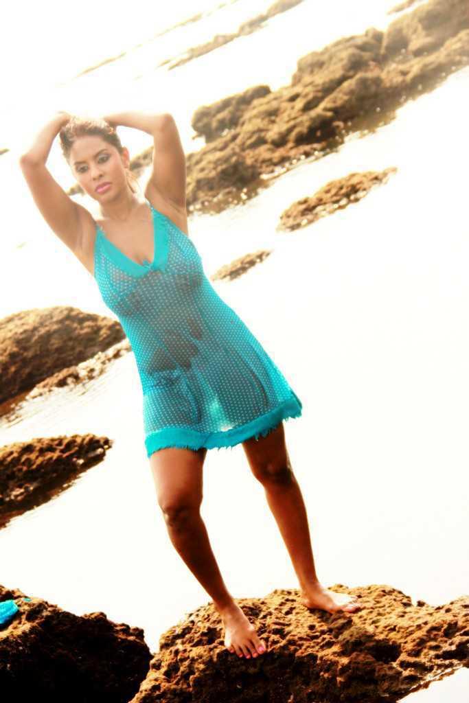 Actress Sri Reddy Latest Photoshot Stills In Transparent