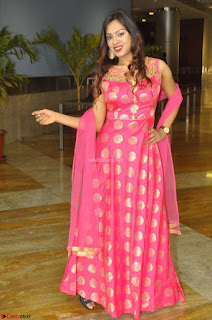 Sindhu Shivarama in Pink Ethnic Anarkali Dress 05.JPG