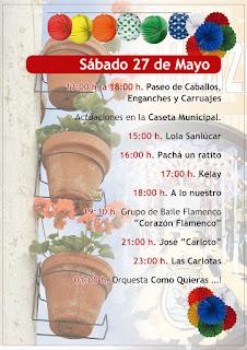 Feria de la Manzanilla 2017 - Programa día 27 de mayo