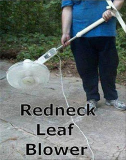 Redneck leaf blower