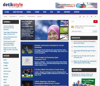 Detik Style - Premium News Blogger Template