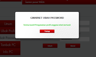 Hati-Hati Isi User Name dan Password Registry G-Warnet