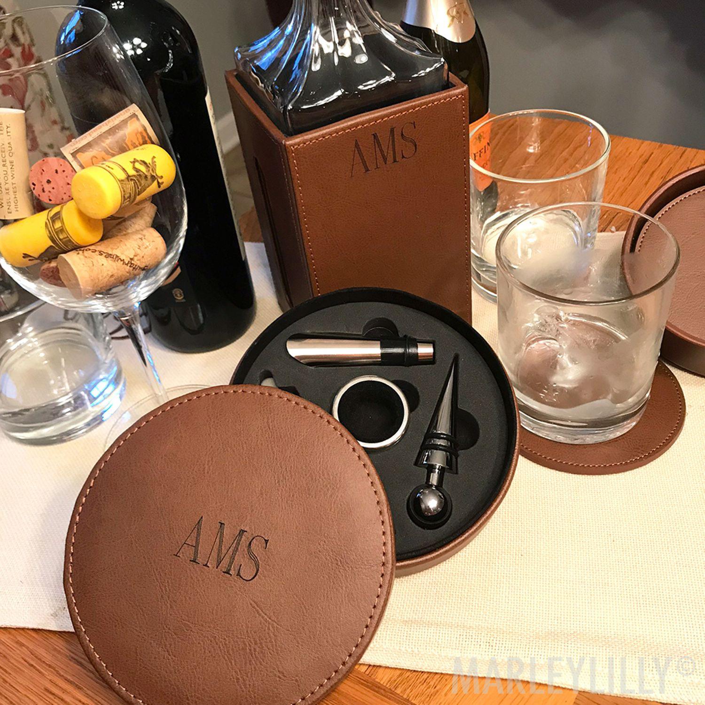 Monogrammed Wine Tool Kit