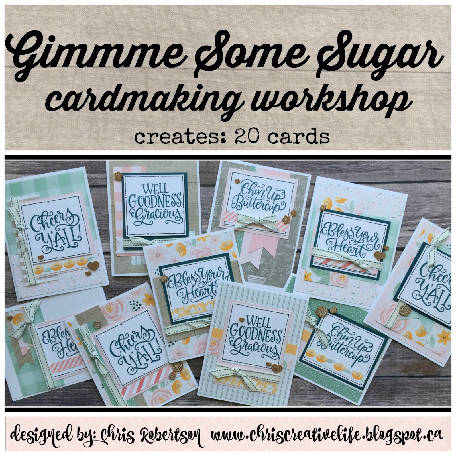 Gimme Some Sugar Scrapbooking Workshop