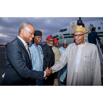Buhari arrives in New York for UN General Assembly, to speak on Tuesday