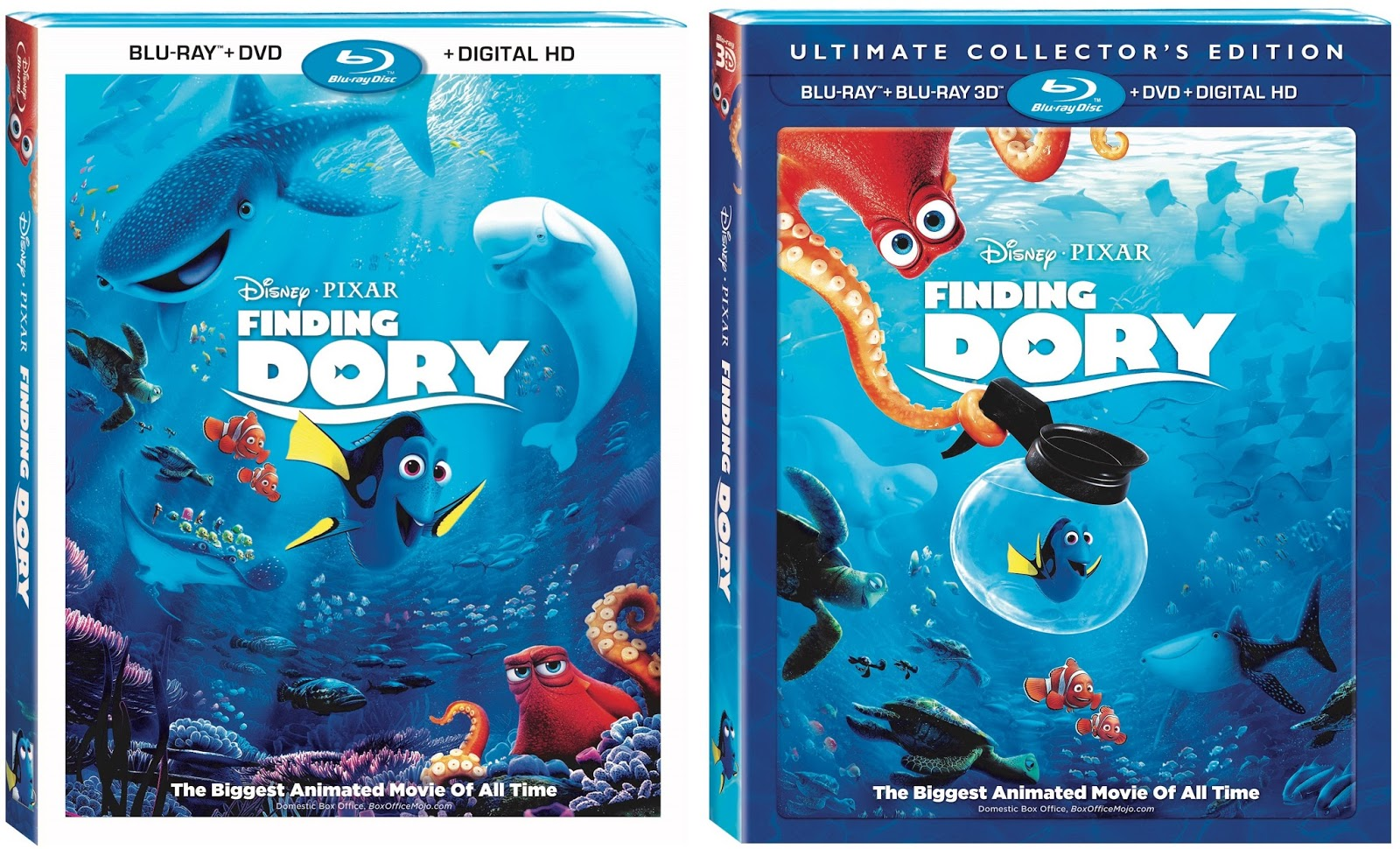 Finding Dory Blu Ray Nov 15 Digital HD Oct