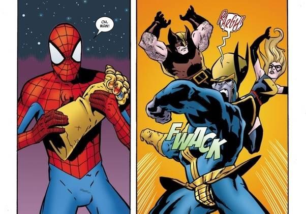 spiderman Para Pemegang Infinity Gauntlet Selain Thanos