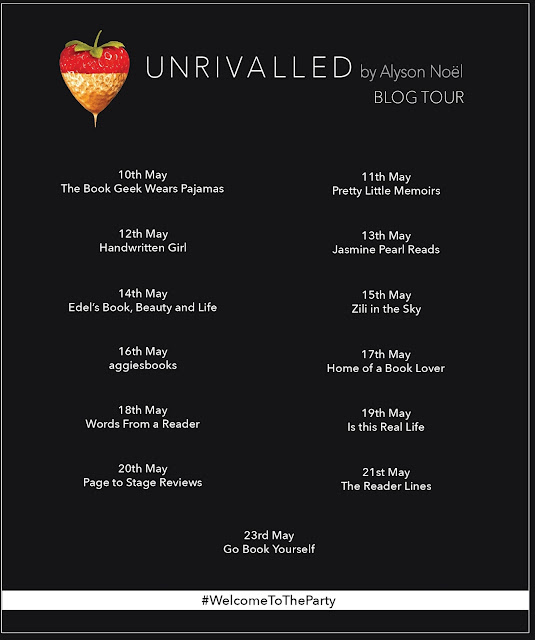 Unrivaled by Alyson Noel book tour