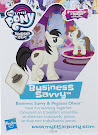 My Little Pony Wave 20 Business Savvy Blind Bag Card