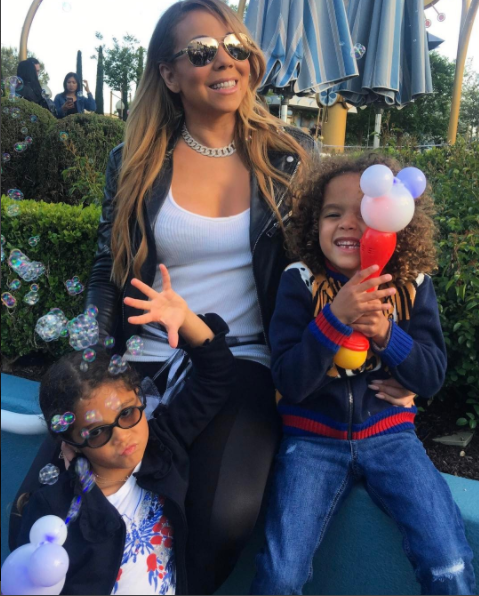 Mariah Carey visits Disney world with her kids