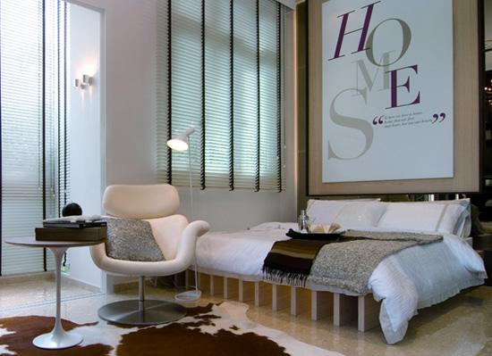 Dormitorios modernos en tonos marrones y crema via www - Colores para dormitorios modernos ...