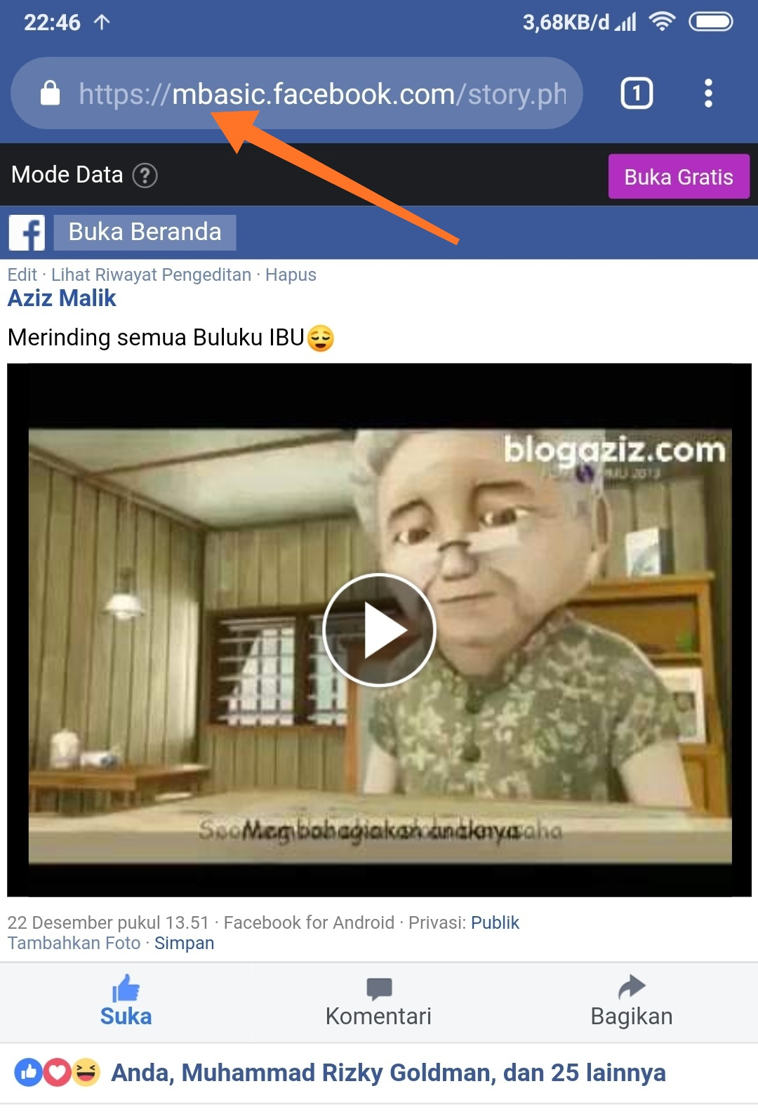 Download video facebook tanpa aplikasi