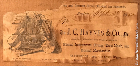 1880 J. C. Haynes & Co. Drum Label